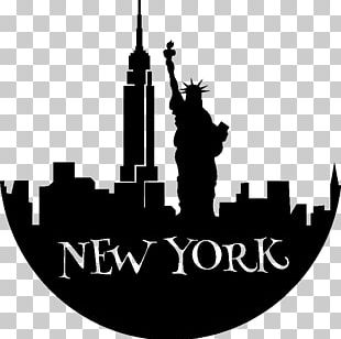 Statue Of Liberty Empire State Building Silhouette PNG