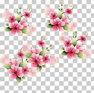 Watercolor Painting Flower Arranging Branch PNG