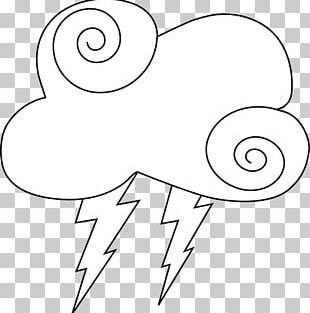 Thunder White Cloud PNG