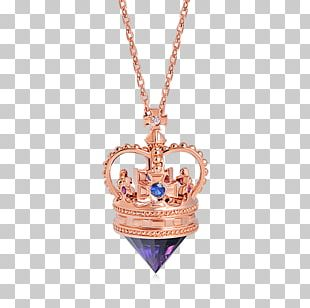 Locket Necklace Jewellery Sapphire Gold PNG