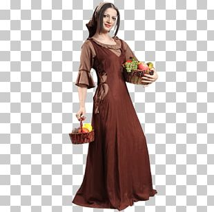 Middle Ages Robe Peasant English Medieval Clothing PNG