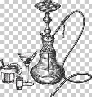 Tobacco Pipe Hookah Drawing Sketch PNG