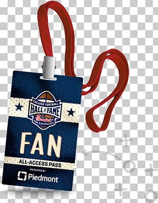 College Football Hall Of Fame Clemson Tigers Football Access Badge American Football PNG