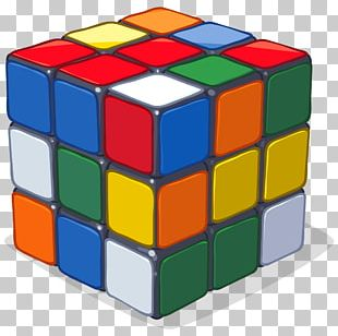 Problem Solving Rubik's Cube Toy Game PNG