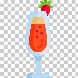Strawberry Wine Glass Cocktail Garnish PNG