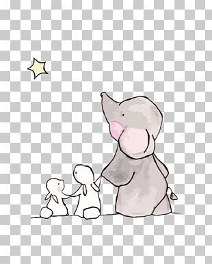 Elephant Rabbit Drawing Child PNG