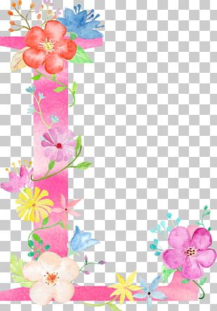 Letter Floral Design Cushion Alphabet PNG