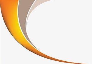 Orange Gradient Lines PNG