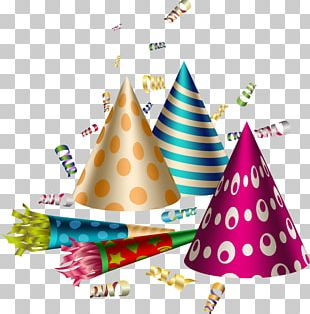 Party Hat Birthday Confetti PNG