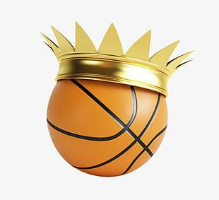Basketball Golden Crowns PNG