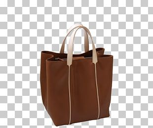 Tote Bag Leather Brown Caramel Color PNG
