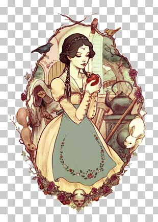 Snow White Queen Rapunzel Drawing Illustration PNG
