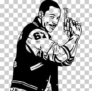 Beverly Hills Cop Axel Foley 1980s T-shirt PNG