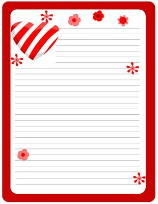 Paper Valentines Day Love Letter Template PNG