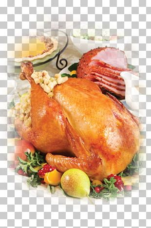 Thanksgiving Dinner Turkey Food Holiday PNG
