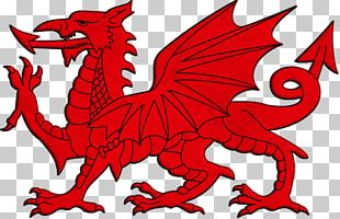 Flag Of Wales Welsh Dragon National Flag PNG