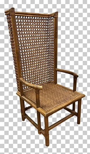 Chair Wicker Rattan Caning Garden Furniture PNG