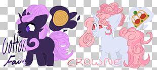 Horse Illustration Cartoon Design Pink M PNG