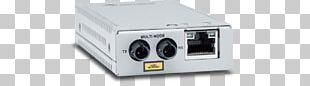 Fiber Media Converter Multi-mode Optical Fiber Allied Telesis AT MMC2000 Optics PNG