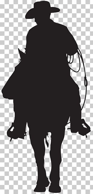 Silhouette Cowboy American Frontier PNG
