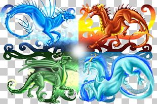 Azure Dragon Classical Element Elemental PNG