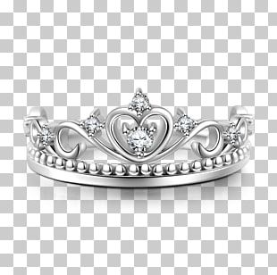 Wedding Ring Sterling Silver Crown PNG