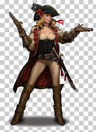 Piracy Woman Female Concept Art Character PNG
