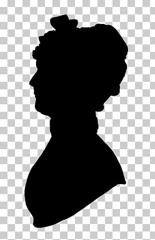 Victorian Era Woman With A Hat Silhouette Female PNG