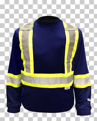 Long-sleeved T-shirt High-visibility Clothing Workwear PNG