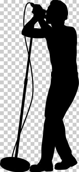 Silhouette Singer-songwriter Singing Female PNG