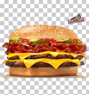 Bacon Whopper Hamburger Cheeseburger Big King PNG
