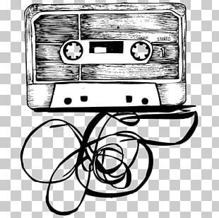 Compact Cassette Drawing Musical Instruments PNG