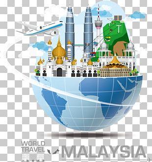 Malaysia Infographic Landmark Travel PNG
