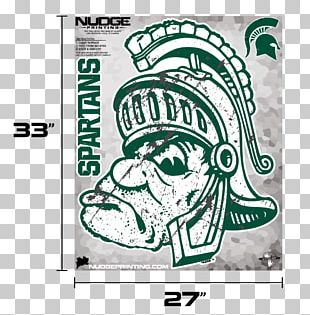 Michigan State Spartans Men's Basketball Sparty University Wall Decal PNG