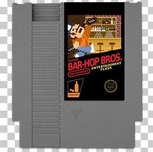 Mario Bros. Nintendo Entertainment System Hip Flask ROM Cartridge Paper Mario: Sticker Star PNG