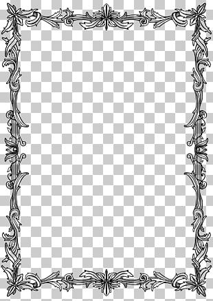 Frames Drawing Parchment Film Frame Line Art PNG