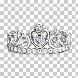 Ring Silver Crown Princess Headpiece PNG