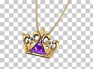 Amethyst Locket Necklace Body Jewellery PNG