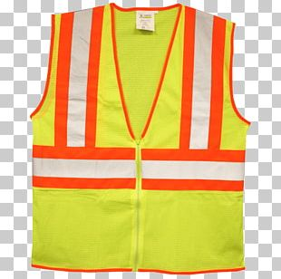Gilets T-shirt High-visibility Clothing Safety PNG