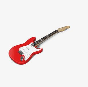 Red Electric Guitar PNG