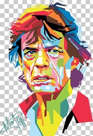 Mick Jagger Artist Portrait Pop Art PNG