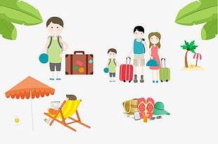 Summer Tourism Element PNG
