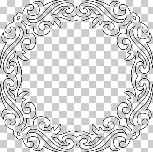 Black And White Frames Decorative Arts PNG