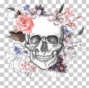 Calavera Skull Flower Day Of The Dead PNG