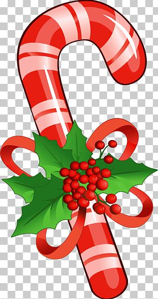 Candy Cane Lollipop PNG