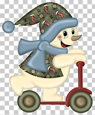 Christmas Snowman Scarf PNG