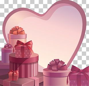 Paper Valentine's Day Gift Box PNG