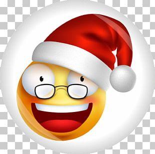 Smiley Santa Claus Emoticon Emoji Christmas PNG