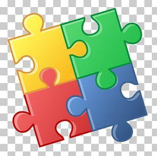 Four Puzzle Pieces PNG