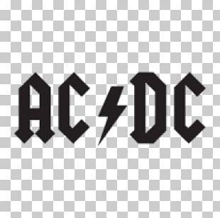 Logo AC/DC Silhouette Design Musical Ensemble PNG